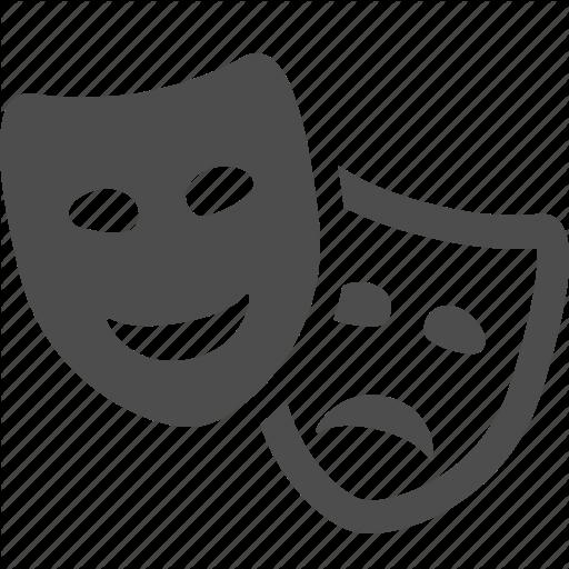 Comedy, Drama, Masks, Theater, Theatre Icon