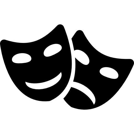 Comedy And Tragedy Masks Couple Icons Free Download