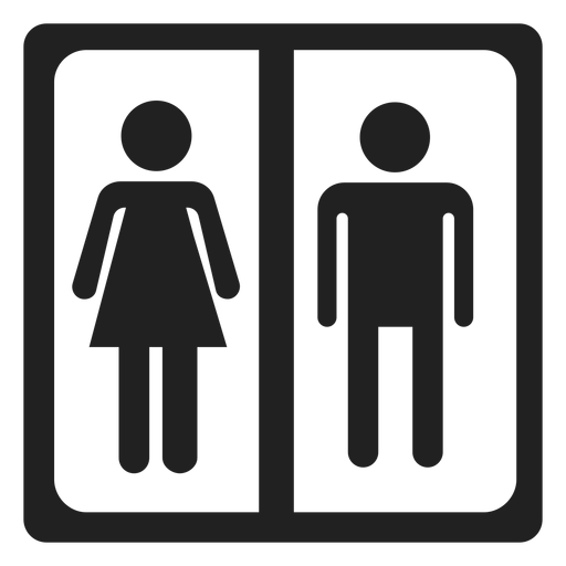 Male And Female Sign Square Icon