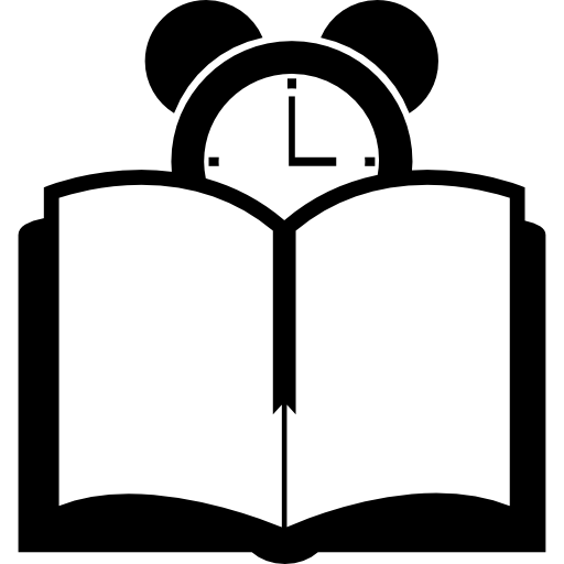 Book And Clock Icons Free Download