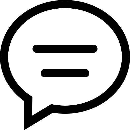 Chat Comment Oval Speech Bubble With Text Lines Icons Free Download