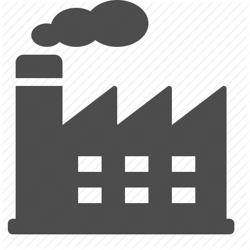 Factory, Industry, Plant, Power Plant, Real Estate, Smoke Icon