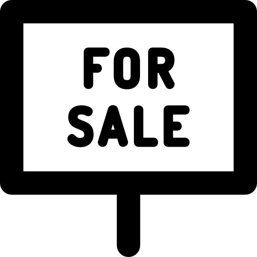 For Sale, Home, House, Property, Real Estate Icon