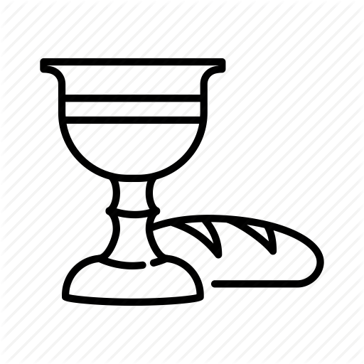 Bread, Chalice, Communion, Easter, Holy Cup, Wineglass Icon