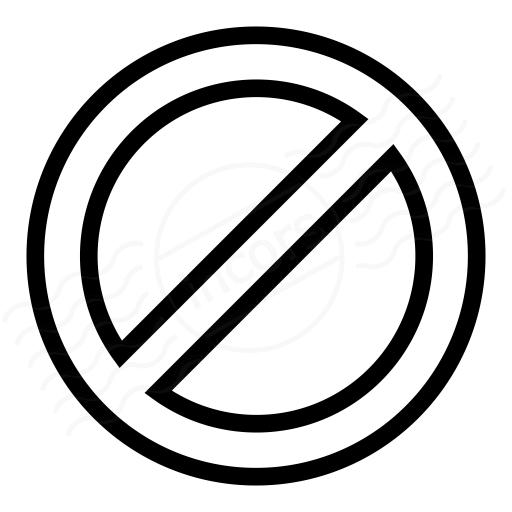 Iconexperience I Collection Sign Forbidden Icon