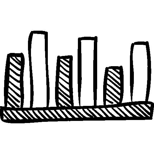 Bars Graphic Of Comparison Icon Social Media Hand Drawn Freepik