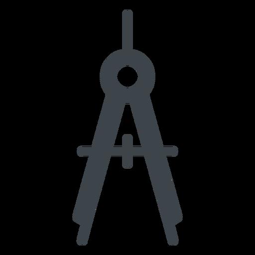 Bow Compass Flat School Icon