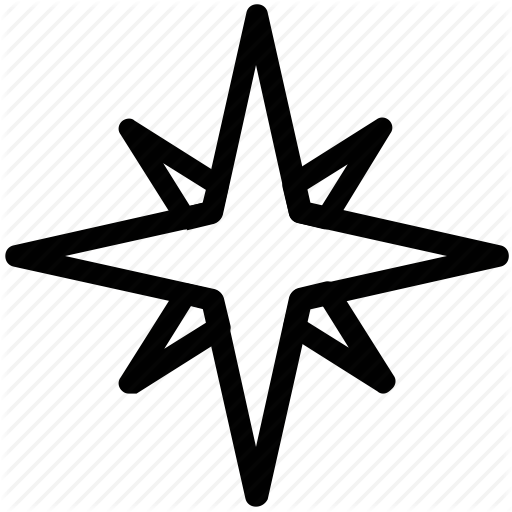 Compass Rose, Direction, Navigation, Windrose Icon