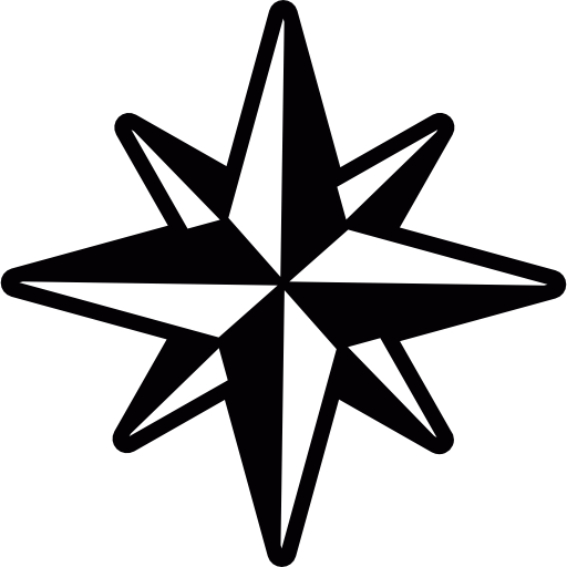 Compass, Star, Nautical, Cardinal Points, Nature, Wind Rose Icon