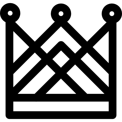 Complex Tall Royal Crown Design Of Crossed Lines Icons Free Download
