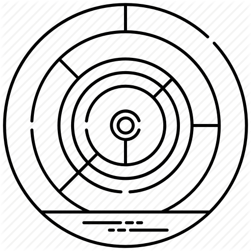 Circular Maze, Circular Puzzle, Complexity, Mystery, Pattern Icon