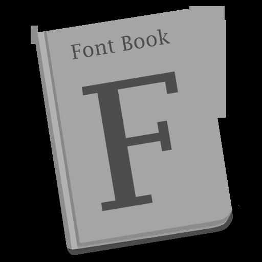 Font Book Icon Yosemite Flat Iconset Dtafalonso