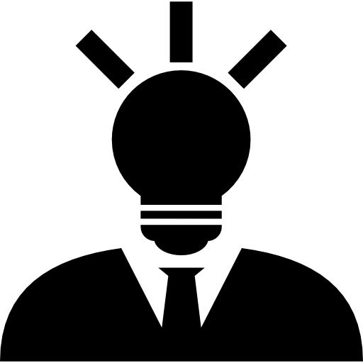 Creative Man With Lightbulb Head Icons Free Download