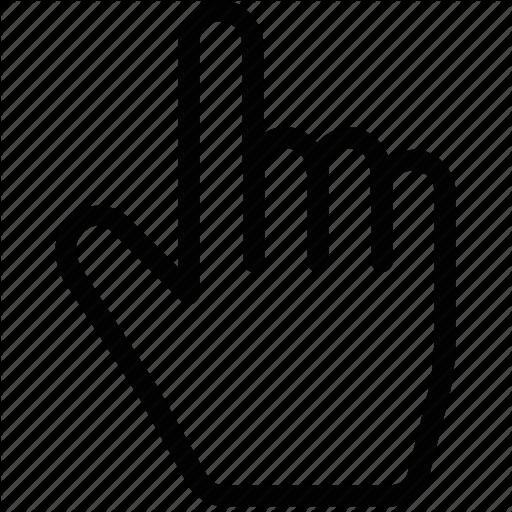 Computer, Cursor, Hand Icon
