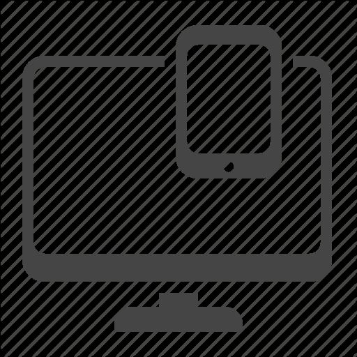 Adaptive Design, Computer, Mobile, Responsive Icon