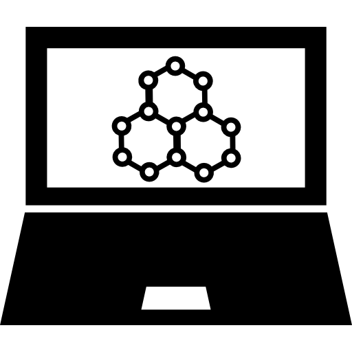 Science Symbols On Computer Screen