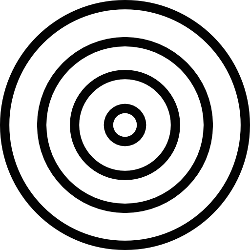Target Concentric Circles Outline Icons Free Download