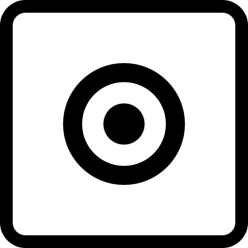 Target Concentric Circles Symbol In Square Button Icons Free