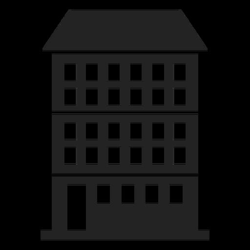 Condominium Building Black Icon