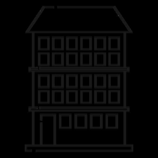 Condominium Builing Line Icon