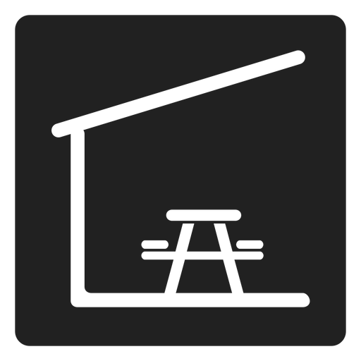 Indoor Picnic Table And Chair Square Icon