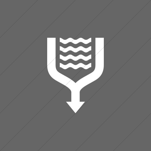 Flat Square White On Gray Iconathon River Confluence Icon