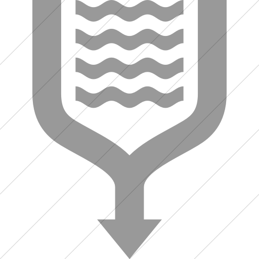 Simple Light Gray Iconathon River Confluence Icon
