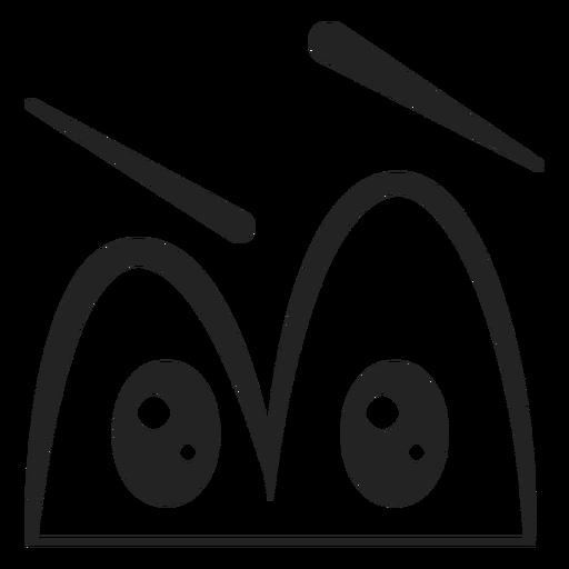 Confused Emoticon Eyes Cartoon