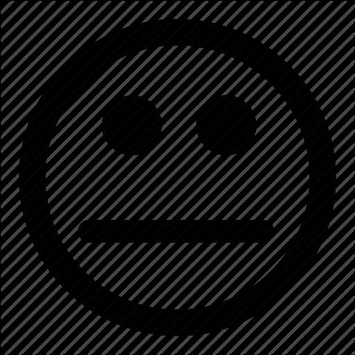 Confused, Emoticons, Plain, Quiet, Speechless, Unsure Icon
