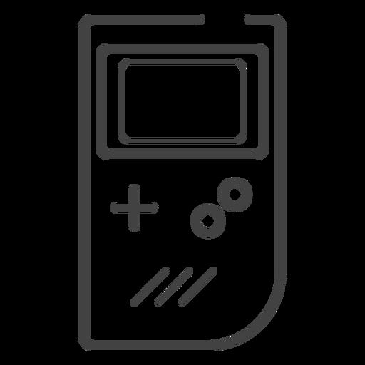 Game Boy Console Stroke Icon