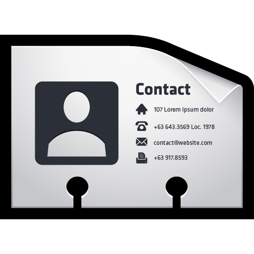 Contact, Card, Vcf, Name Icon