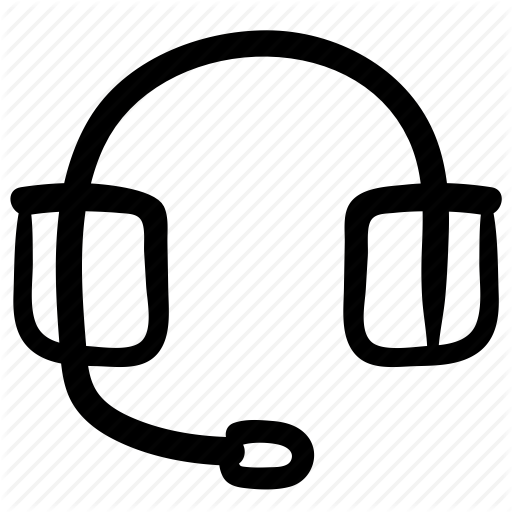 Call Center, Communication, Contact, Doodle, Headset, Service Icon