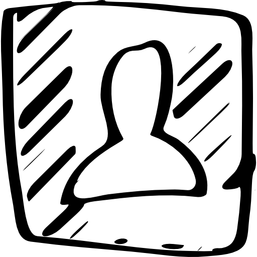 Contact Sketched Social Symbol Icons Free Download