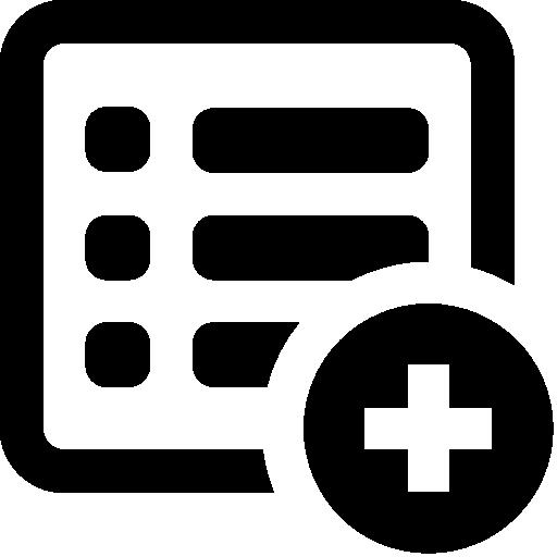 S Add List Icon Windows Iconset
