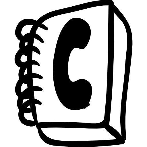 Phone Contacts Book Handmade Tool Symbol Icons Free Download