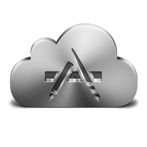 Apps, Cloud, Icon, Silver Icon