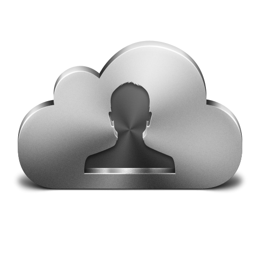 Cloud Contacts Silver Icon