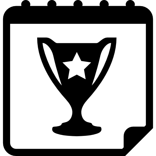 Trophy On Daily Calendar