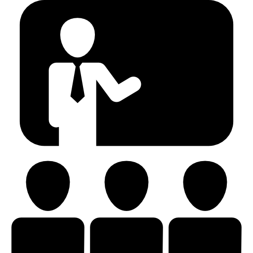 Audience In Presentation Of Business Icons Free Download