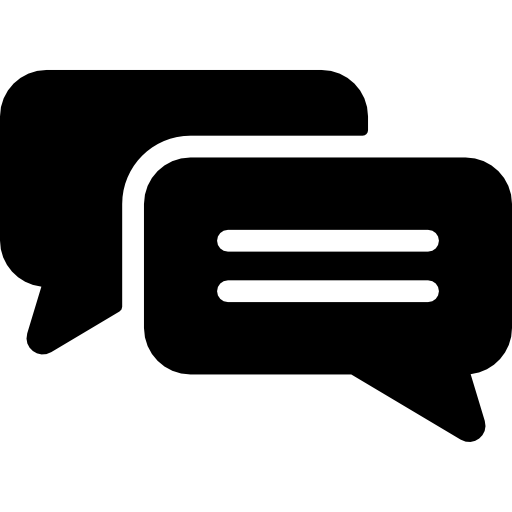 Speech Bubbles, Conversation, Black, Bubbles, Symbol, Chat