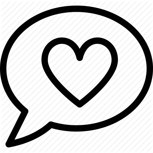 Chat, Conversation, Heart, Love, Media, Romantic, Speech Bubble Icon