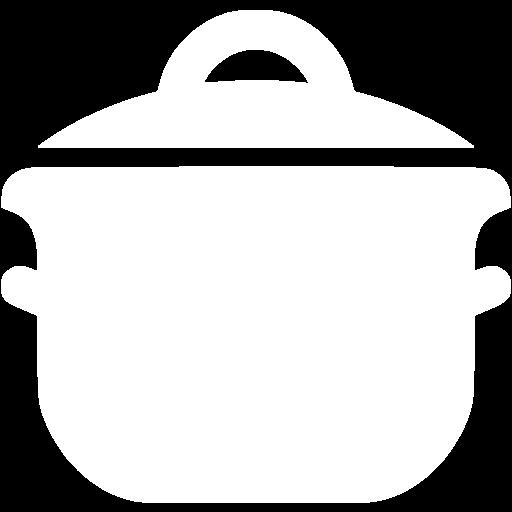 White Cooking Pot Icon