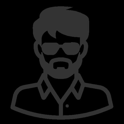 Glyph Avatar Beard Shades Cool, Beard, Brun Png And Vector