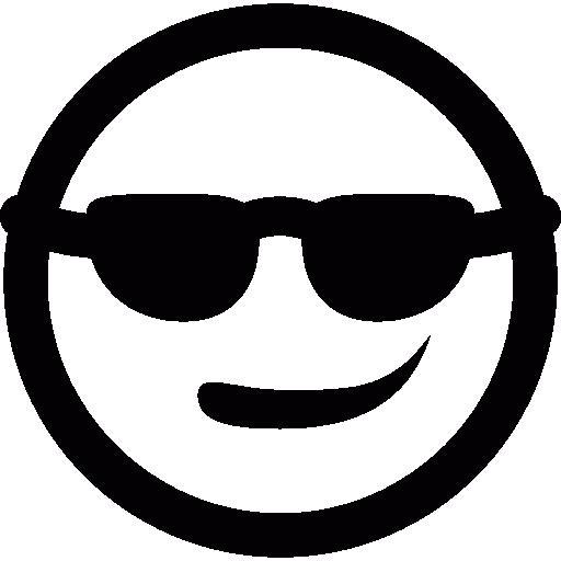 Carita Con Gafas De Sol Icono Gratis Carita Cool Logo, Logo