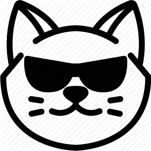 Cat, Cool, Emoji, Emotion, Expression, Face, Feeling Icon