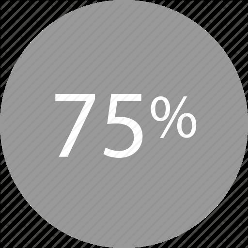 Five, Percent, Rate, Seventy Icon