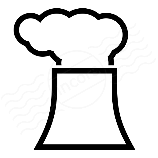 Iconexperience I Collection Cooling Tower Smoke Icon