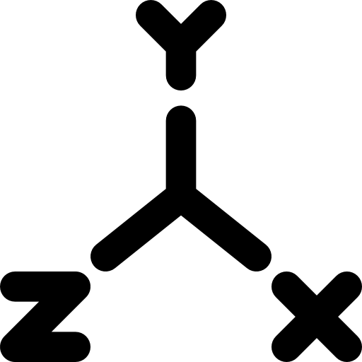 Black White And Coordinate Icon