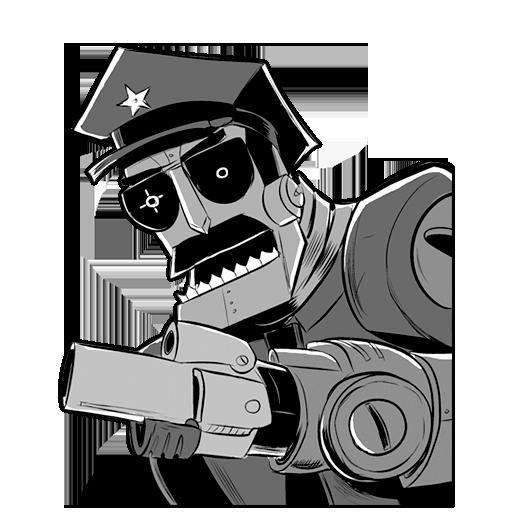 Robot Axe Cop Icon Axe Cop Iconset Michael Beach