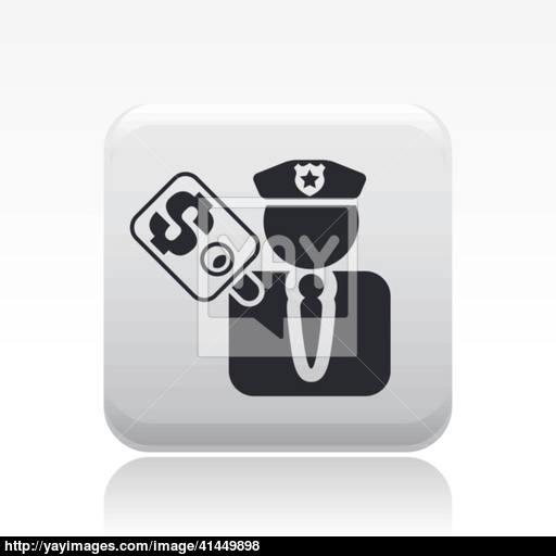 Vector Illustration Of Single Cop Corruption Icon Vector